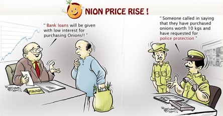 price of onions increased in India